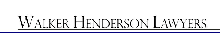Walker Henderson Lawyers Logo